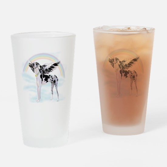 Harlequin Great Dane Angel RB Drinking Glass