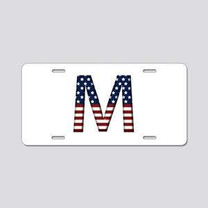M Stars and Stripes Aluminum License Plate