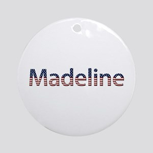 Madeline Stars and Stripes Round Ornament