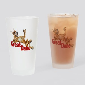 Great Dane Brindle LB Drinking Glass
