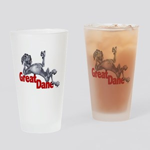 Blue Great Dane LBUC Drinking Glass