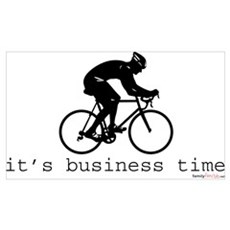 It's Business Time Cyling Canvas Art