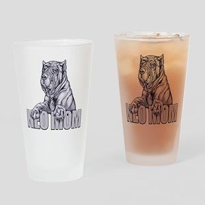 Neo Mom Blue Drinking Glass