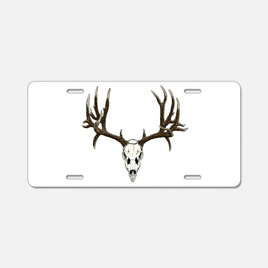 Deer skull Aluminum License Plate