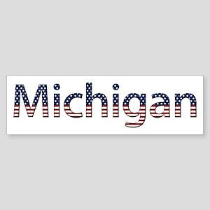Michigan Stars and Stripes Bumper Sticker