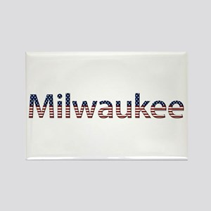 Milwaukee Stars and Stripes Rectangle Magnet