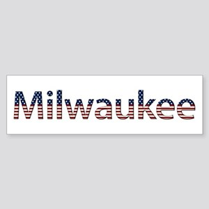 Milwaukee Stars and Stripes Bumper Sticker
