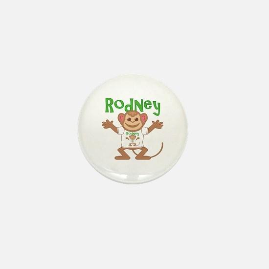 Little Monkey Rodney Mini Button