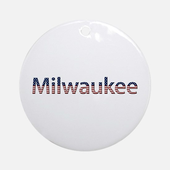 Milwaukee Stars and Stripes Round Ornament