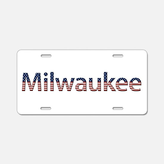 Milwaukee Stars and Stripes Aluminum License Plate