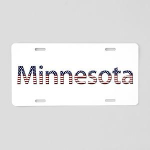Minnesota Stars and Stripes Aluminum License Plate