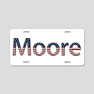 Moore Stars and Stripes Aluminum License Plate