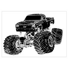 Monster Pickup Truck Poster
