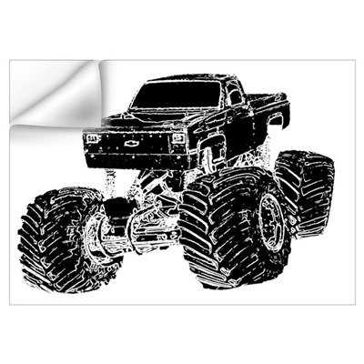Monster Pickup Truck Wall Decal