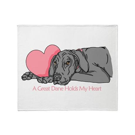 Black UC Holds Heart Throw Blanket