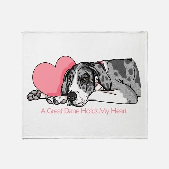 MerleB UC Holds Heart Throw Blanket