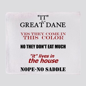 Great Dane Walking Answers Throw Blanket