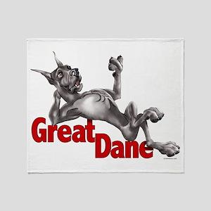 Great Dane Black LB Throw Blanket
