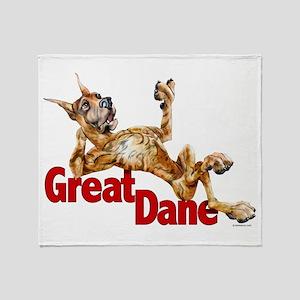 Great Dane Brindle LB Throw Blanket