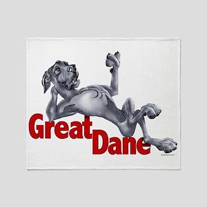 Blue Great Dane LBUC Throw Blanket