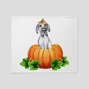 Blue Pumpkin Dane UC Throw Blanket