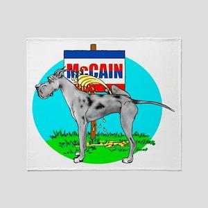 Merle Dane Pi$$ on McCain Throw Blanket