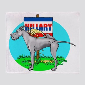 Blue Dane Pi$$ on Hillary Throw Blanket