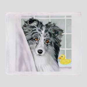 Bi Blue Sheltie Bath Throw Blanket