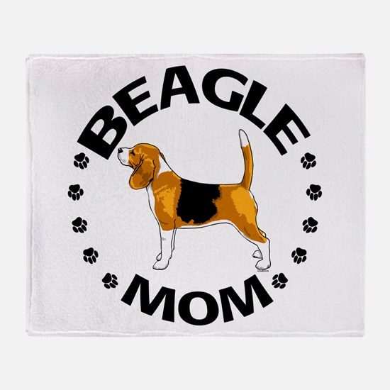 Beagle Mom Throw Blanket