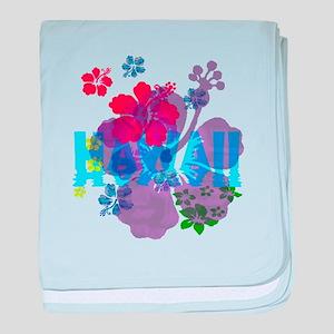 Hawaii Hibiscus baby blanket