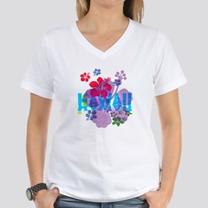 Hawaii Hibiscus Women's V-Neck T-Shirt