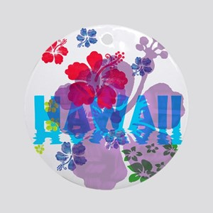 Hawaii Hibiscus Ornament (Round)