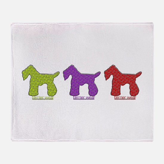 Terrier Wear Throw Blanket