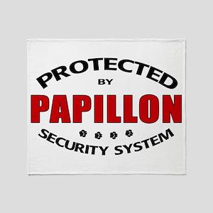 Papillon Security Throw Blanket
