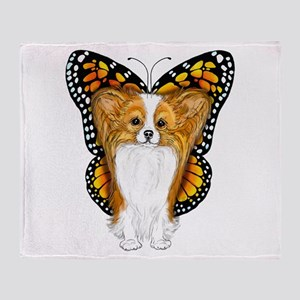 Papillon In Disguise Throw Blanket
