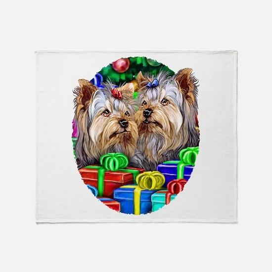 Yorkshire Terrier Open Gifts Throw Blanket