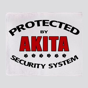 Akita Security Throw Blanket