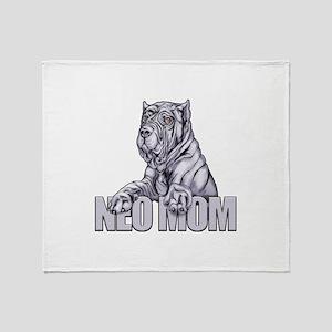Neo Mom Blue Throw Blanket