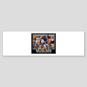 Muslims Sticker (Bumper)