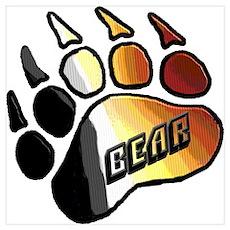 BEAR PRIDE PAW/BEAR Poster