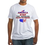 Stop The Invasion Fitted T-Shirt