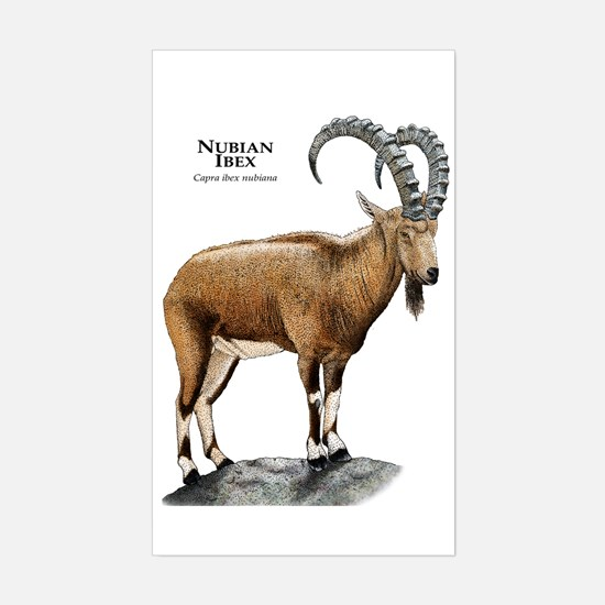Nubian Ibex Sticker (Rectangle)