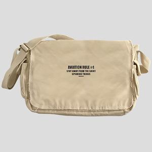 AVIATION RULE #1 Messenger Bag