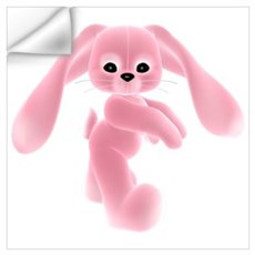Pink Bunny - Baby Steps Wall Decal