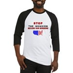 Stop The Invasion Baseball Jersey