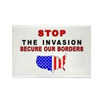 Stop The Invasion Rectangle Magnet (10 pack)