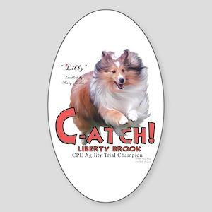 Libby C-ATCH Oval Sticker