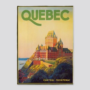 Quebec, Canada Vintage Travel Poster 5'x7'