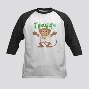 Little Monkey Theodore Kids Baseball Jersey