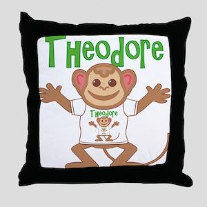 Little Monkey Theodore Throw Pillow